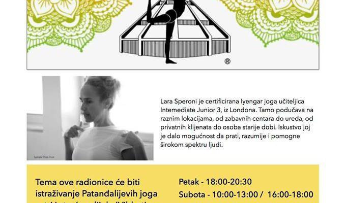 IYENGAR YOGA WORKSHOP with Lara Speroni