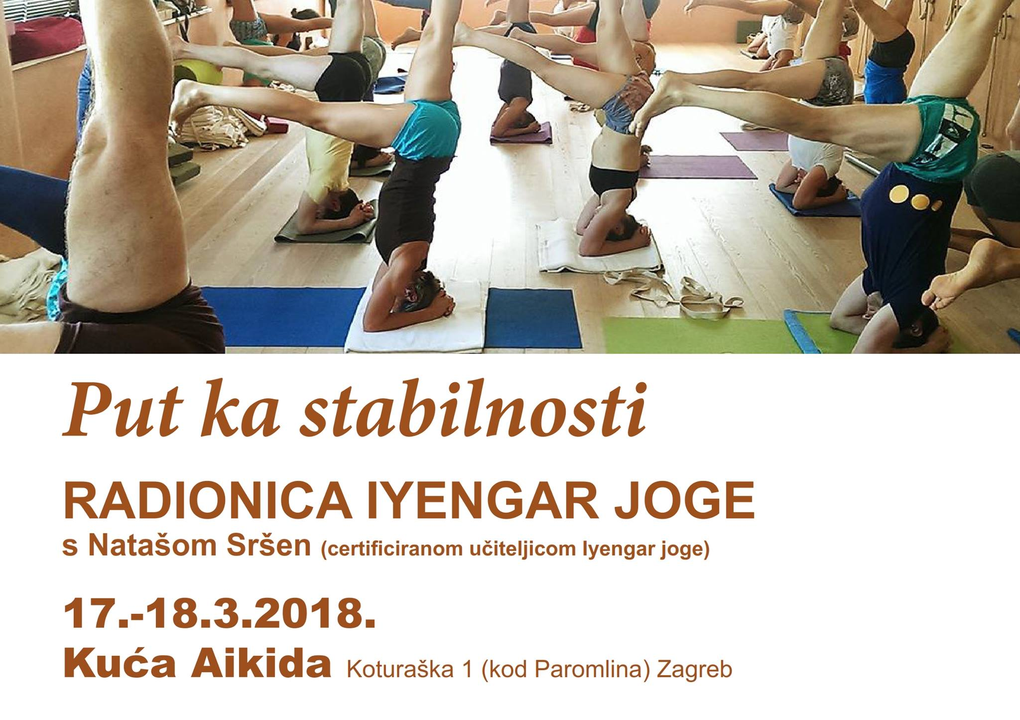 WORKING TOWARDS STABILITY-iyengar yoga workshop with Natasha Srshen in Zagreb
