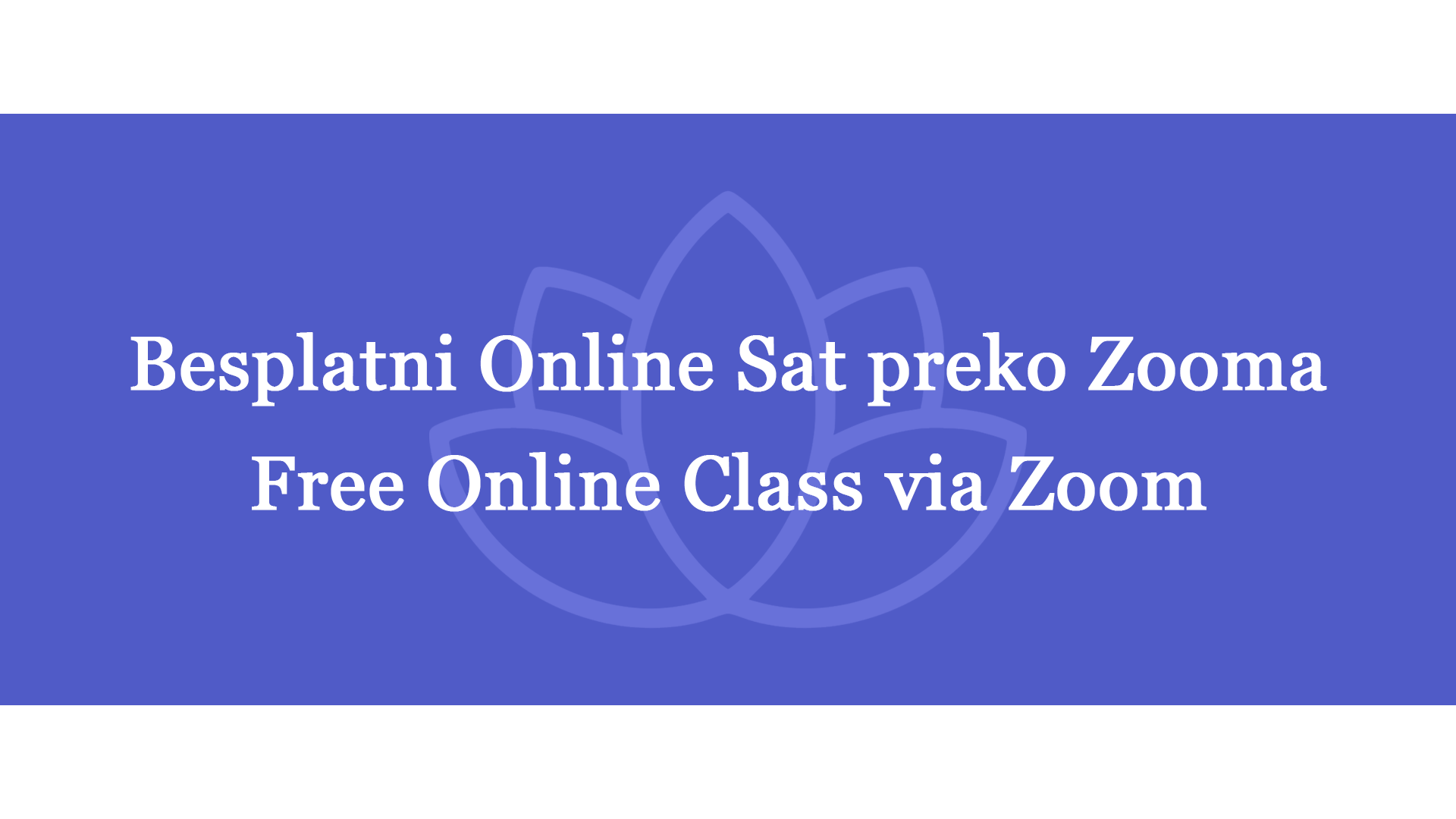 Free online class – Anxiety